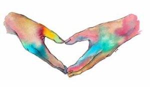 heart hands web